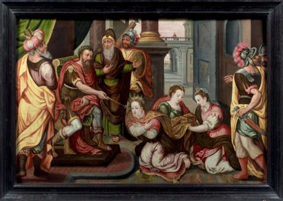 Ecole FLAMANDE du XVIème siècle, entourage du MAITRE DU FILS PRODIGUE