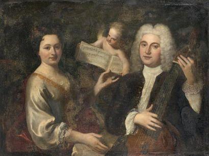 École anglaise vers 1740