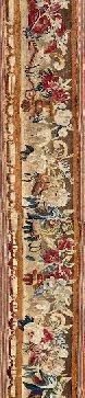 Bordure de tapisserie à décor de riche guirlande...