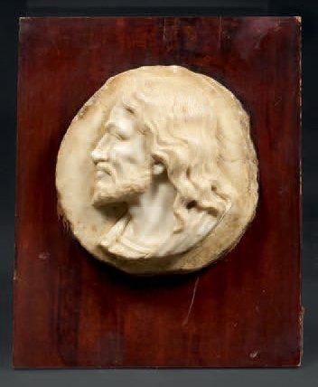 Médaillon en marbre de Vérone sculpté en...