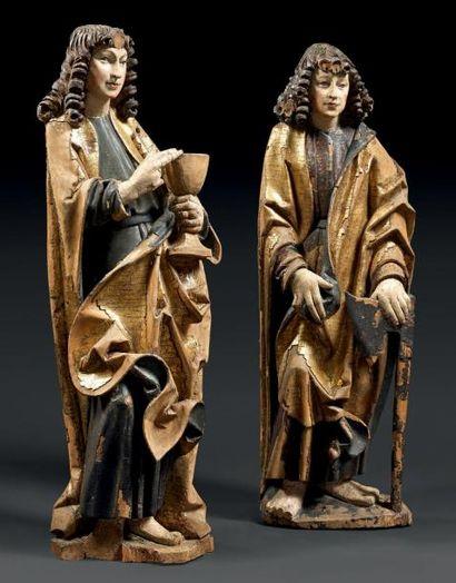 Saint Jean et saint Mathieu Sculptures en...