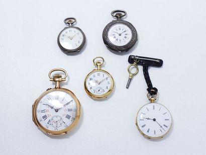Lot en or 18 K composé de 2 montres de poche...