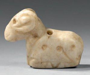 Amulette pendentif représentant un bélier...