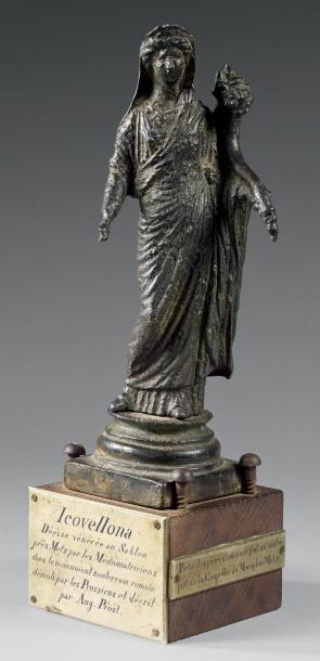 Importante statue représentant une Fortuna...