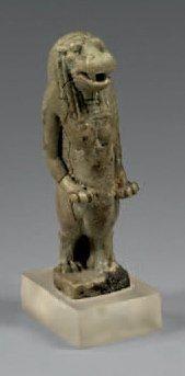 Amulette de Thouéris. Faïence. Égypte, Période...