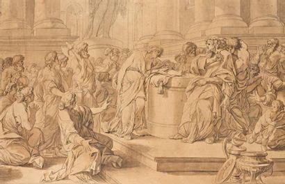 Ecole FRANCAISE du XVIIIème siècle, entourage de Jean Honoré FRAGONARD SCENE DE SACRIFICE...