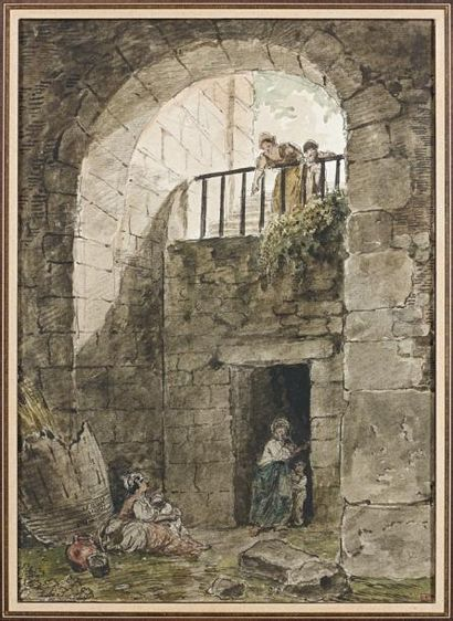 Ecole FRANCAISE du XVIIIème siècle, entourage de Hubert ROBERT