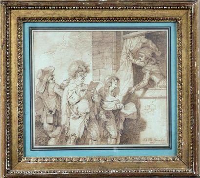 Pierre Alexandre WILLE (Paris 1748- 1821)