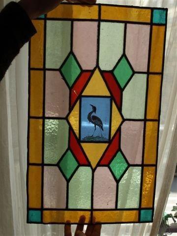 Vitrail polychrome sur verre cathédrale à...