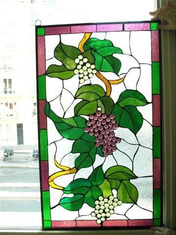 Belle verrière décorative en verres spéciaux:...