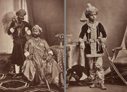 Hauts dignitaires indiens, c. 1890-1900 Huit...