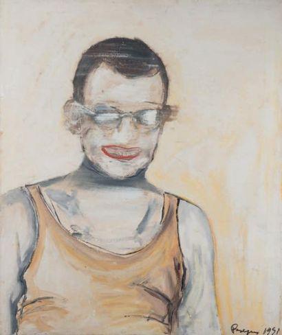 Portrait flou, 1995 Technique mixte sur toile,...