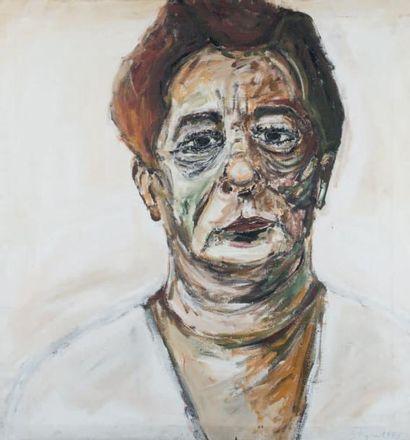 La vieille, 1995 Technique mixte sur toile,...