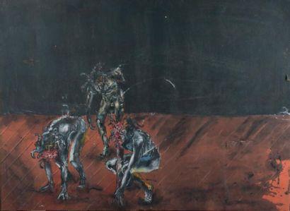 Sans titre, 1990 Acrylique sur toile, signée,...