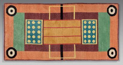 POST DESIGN Tapis en laine à décor de motifs...