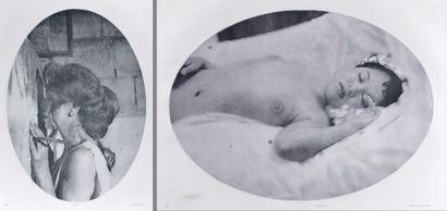 Tracey MOFFATT (Née en 1960) Laudanum, 1998 Deux photogravures d'époque, signées,...