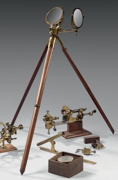 Instrument scientifique à double miroir reposant...