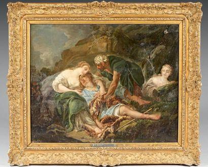 GAUTHIER, d'après François BOUCHER (Actif au XIXème) Aminte revient à la vie dans...