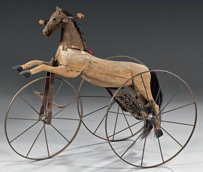 Cheval mécanique pour enfant en bois, la...