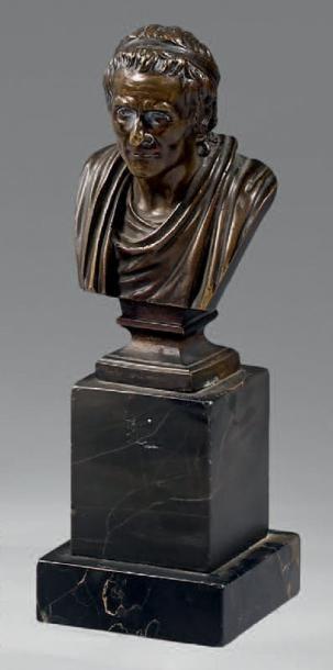 Statuette figurant un philosophe en buste...