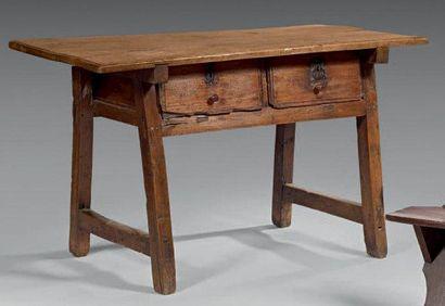 Table catalane à plateau rectangulaire en...