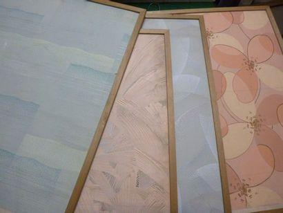 Quatre projets pour papier peints Art-Déco,...
