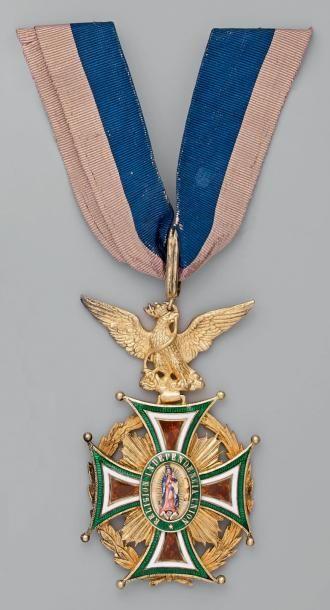 Croix de commandeur en vermeil, émaillée,...