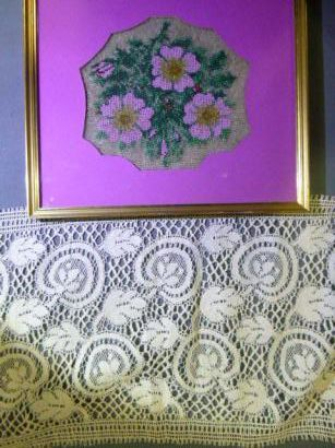 Cadre aux fleurs en broderie de perles de...