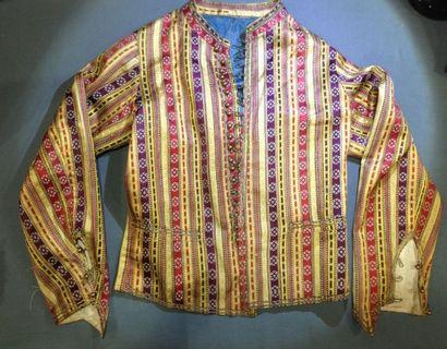 Veste de style entari turc-ottoman, pour l'Occident, XXème siècle. Soie, satin façonné...