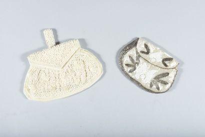 Lot de 4 sacs perlés vers 1930-1950. Sac...