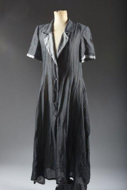 Angelo Tarlazzi, Robe chemise en coton et...