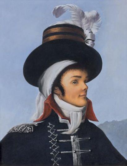 Pastel: Portrait de Charette d'après Louis...
