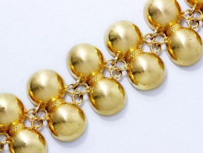 Bracelet «Pompéi» en or brossé 18 K, composé...