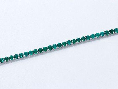 Bracelet articulé en or gris 18 K, composé...