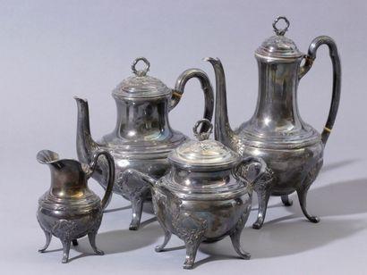 Service à thé 4 pièces composé de 2 théières,...