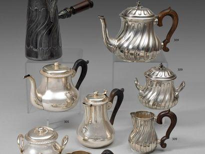 Service à thé 3 pièces en argent composé...