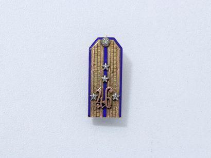 Broche patte d'épaule miniature en or 9 K...