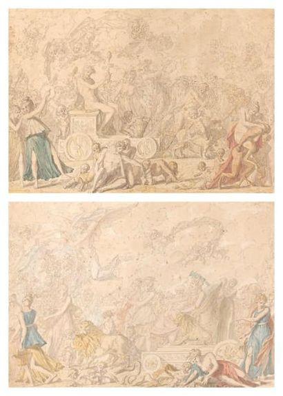 Louis Félix de LA RUE (Paris 1730 - 1765) Le Triomphe de Bacchus - Le Triomphe de...