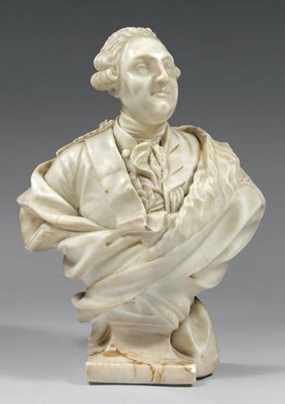 Buste en marbre blanc représentant Louis...