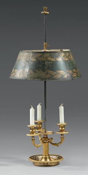 Lampe de bouillotte à trois lumières mobiles...