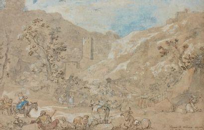 Charles Joseph NATOIRE (Nîmes 1700 - Castelgandolfo 1777) Le lavoir de Marino Plume...