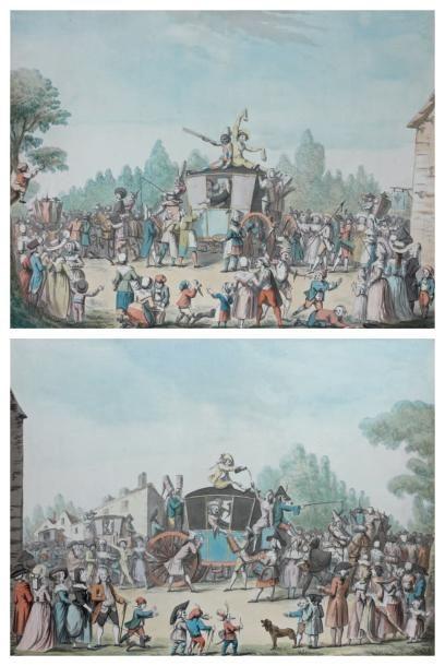 Etienne BERICOURT (Actif dans la deuxième moitié du XVIIIème siècle) Deux scènes...