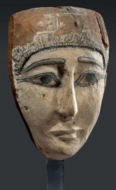 Masque de cuve de sarcophage aux yeux et...