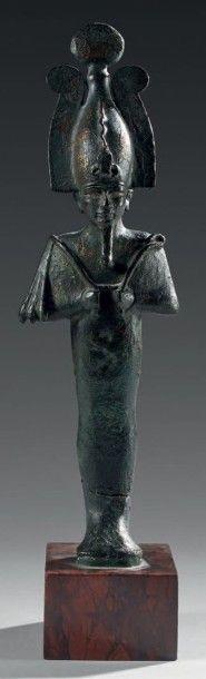 Statuette d'Osiris portant la barbe postiche,...