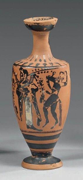Lécythe à vernis noir présentant Dionysos...