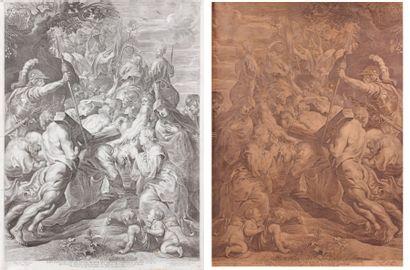 P P. RUBENS d'après LE GRAND PORTEMENT DE CROIX, gravé par P. Pontius (répertorié...