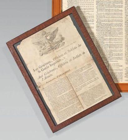 Affiche: Proclamation, vignette à l'aigle...