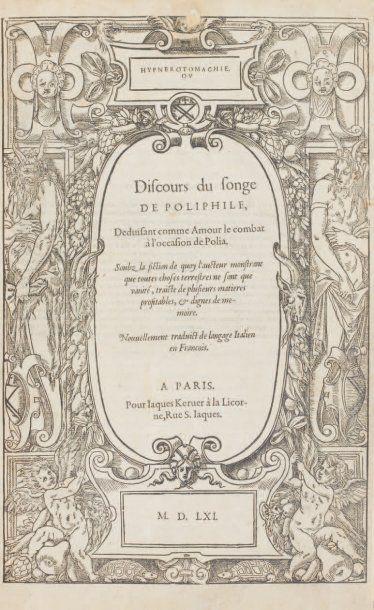 [SONGE DE POLIPHILE - COLONNA (Francesco) & MARTIN (Jean)].