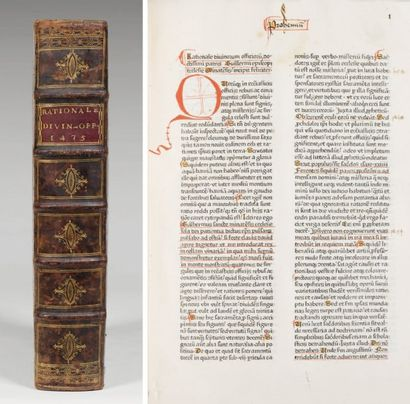 [INCUNABLE - DURANTI (Guillaume)]. Rationale...