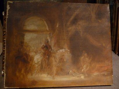 Don Quichotte Huile sur toile, 33 x 41,5...
